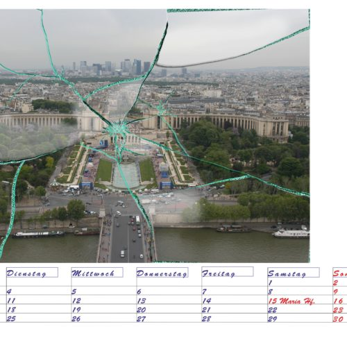 Blick vom Eifelturm zum Trocadéro Gardens