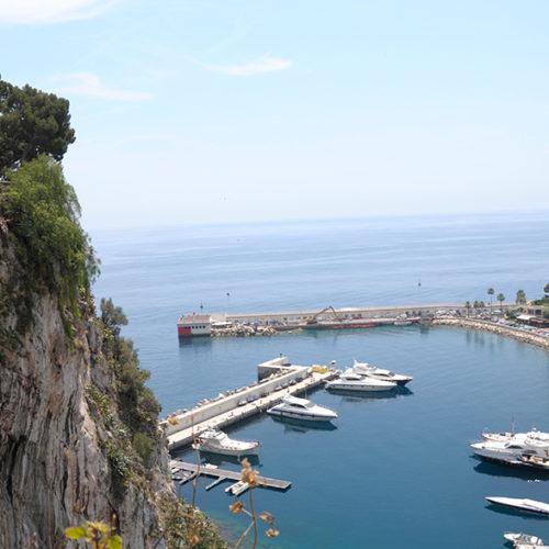 der kleinere Hafen von Monaco