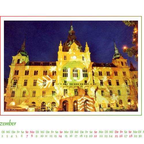 Rathaus als Adventkalender