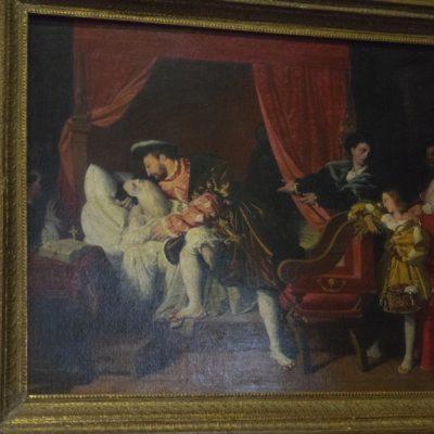 Château  Close Luce-Leonardo da Vinci im Sterbebett