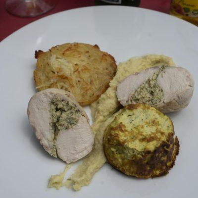 Hühnerbrust mit Quiche